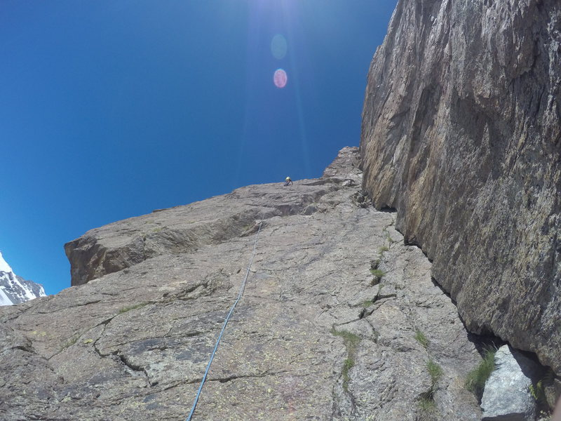 Rock Climbing Photo: leading the final two pitches