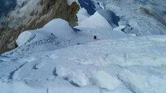 Rock Climbing Photo: Looking down the east ridge.