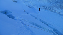 Rock Climbing Photo: Jumping crevasses on the south slopes to get back ...
