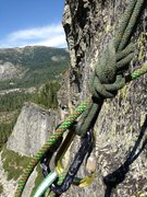 Rock Climbing Photo: looking at Eagle Buttress from the 3rd Belay of Tr...