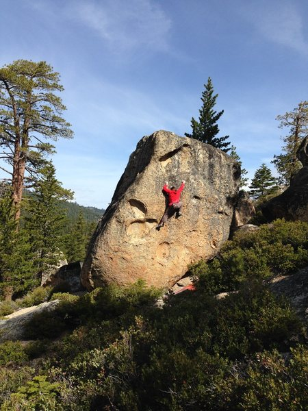 Rock Climbing Photo: Dave Hatchett on Super High ME Bliss State park La...