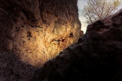 Rock Climbing Photo: Natasha mid crux while making the 1st ascent of Sn...