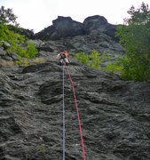 Rock Climbing Photo: The start of Quartz Crack