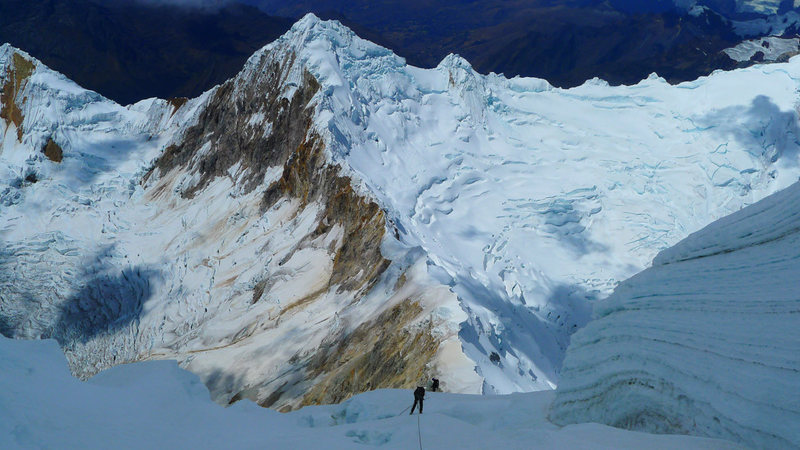 One of eight raps on the east ridge.