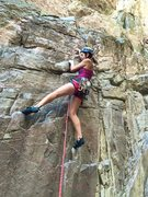 Rock Climbing Photo: At the start of Illegal Dihedral. There's 3 bo...