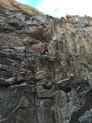 Rock Climbing Photo: Getting into the dihedral section