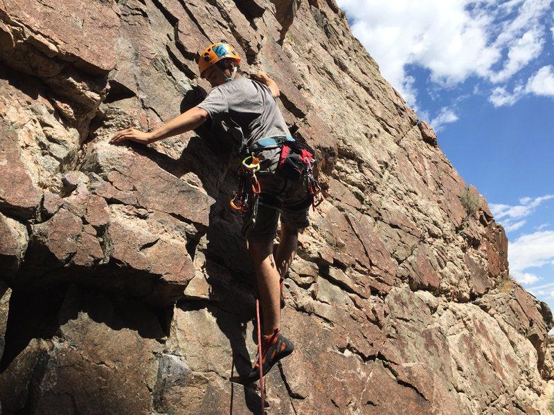 Rock Climbing Photo: Loved this 5.8. Jonas Abdo at the beginning.