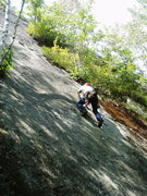 Rock Climbing Photo: RW gets down to business on the opening moves of &...