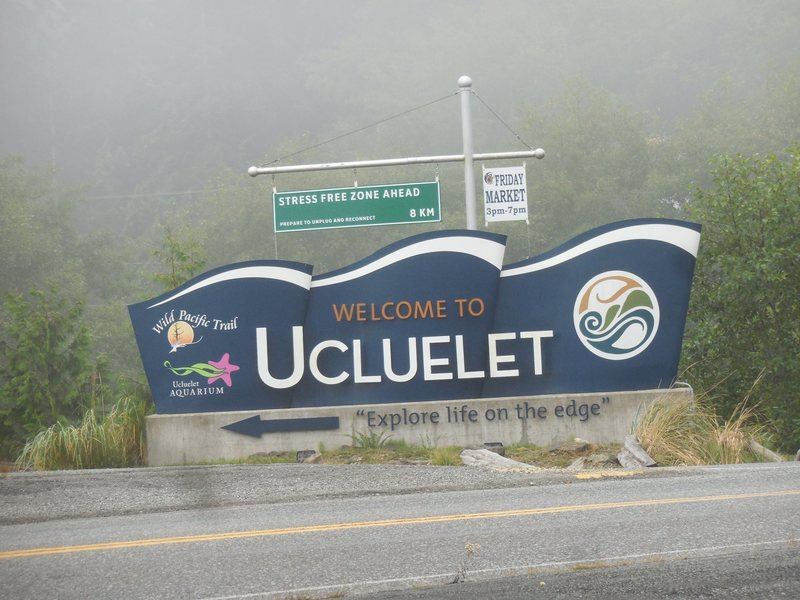 Entering the town of Ucluelet.