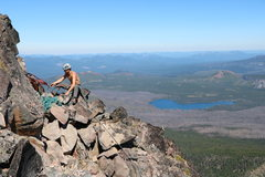 Rock Climbing Photo: The last belay ledge.