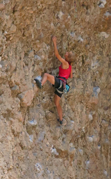 Rock Climbing Photo: It's starting to get steep  Downloader (5.11a)