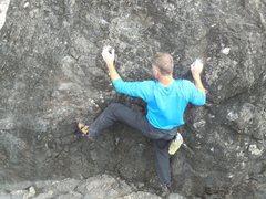 "Rock Climbing Photo: Starting up ""Rain Delay."""