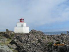 Rock Climbing Photo: The Amphitrite Lighthouse and rocky beach.