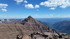 Rock Climbing Photo: Looking back towards Pyramid from summit of Thunde...