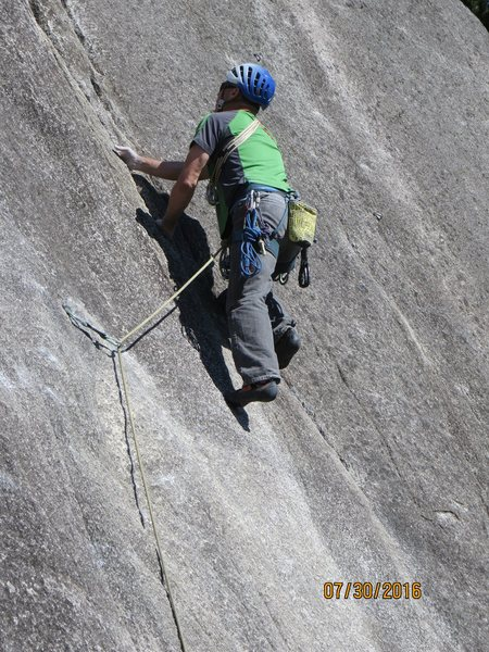 Rock Climbing Photo: Into the crack after the crux.