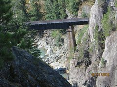 Rock Climbing Photo: CN Railroad trestle downstream from Star Chek.