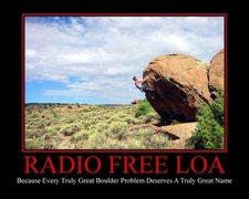 Rock Climbing Photo: Radio FREE Loa!!