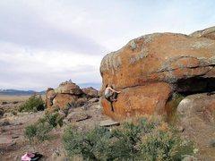 Rock Climbing Photo: Middle Alcove, v3
