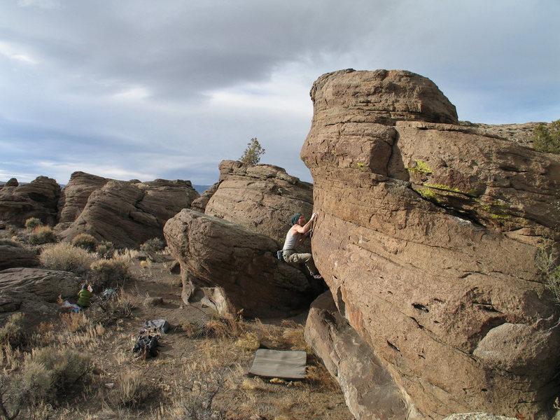 Rock Climbing Photo: Mavericks, Crux move
