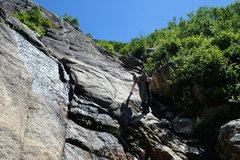 Rock Climbing Photo: A Bit Too Short: Approach the start by scrambling ...