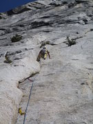 Rock Climbing Photo: Tom Rogers on the first ascent.