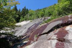 Rock Climbing Photo: A Bit Too Short: Upper part of P7 (shared with Dir...