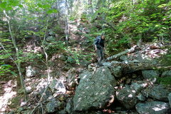 Rock Climbing Photo: This is where you turn right and leave the drainag...