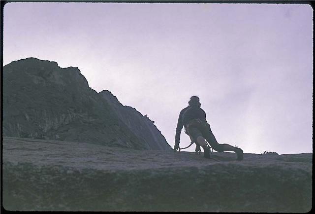Rock Climbing Photo: On Patio Pinnacle, April of '79