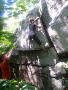 Rock Climbing Photo: Tanya on her send.  This is a great warm up to run...