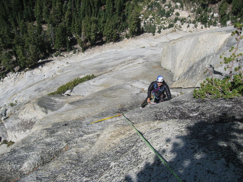 Rock Climbing Photo: This picture was taken from the pitch 4 belay anch...