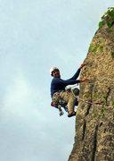 Rock Climbing Photo: Kevin riding the bronco.