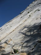 Rock Climbing Photo: Party of Two ascends the obvious right-facing open...