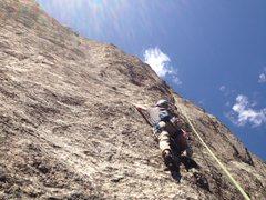 Rock Climbing Photo: Doing a top rope lap.
