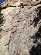 Rock Climbing Photo: Butt shot at the anchors.