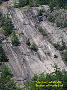 Rock Climbing Photo: North End - telephoto of the middle of the slab