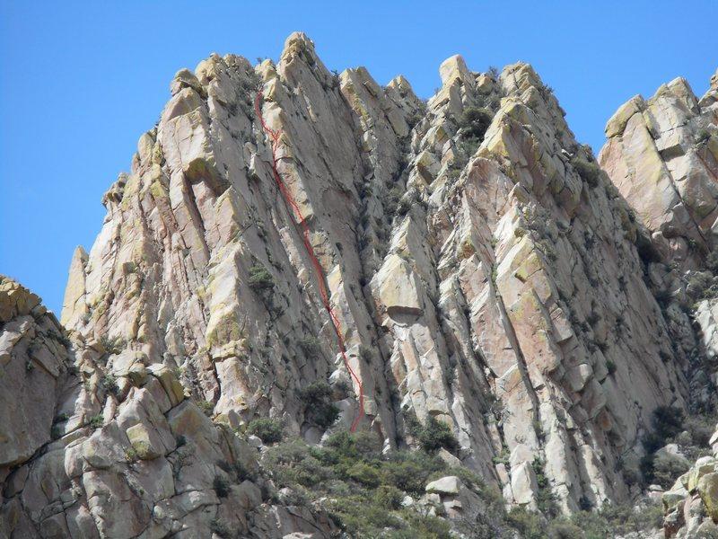 Rock Climbing Photo: the route
