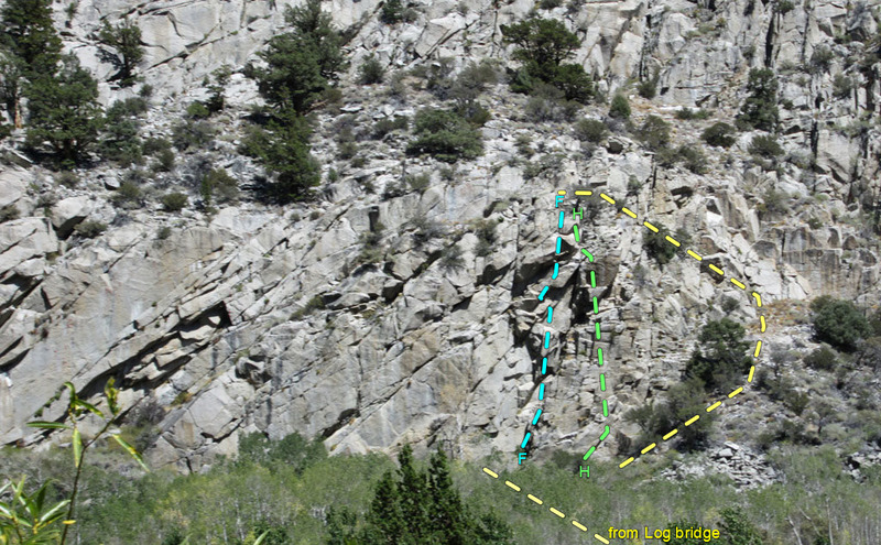 Rock Climbing Photo: Midi sector of Rush on June Lake loop ... overview...