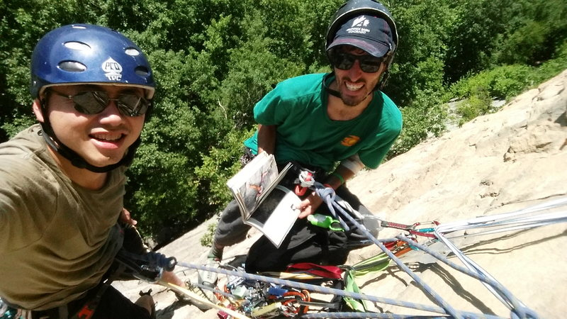 Rock Climbing Photo: hanging belay at madame gs