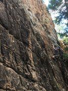 Rock Climbing Photo: Leading Ginger Snap.  Photo credit: Luke Samuels.