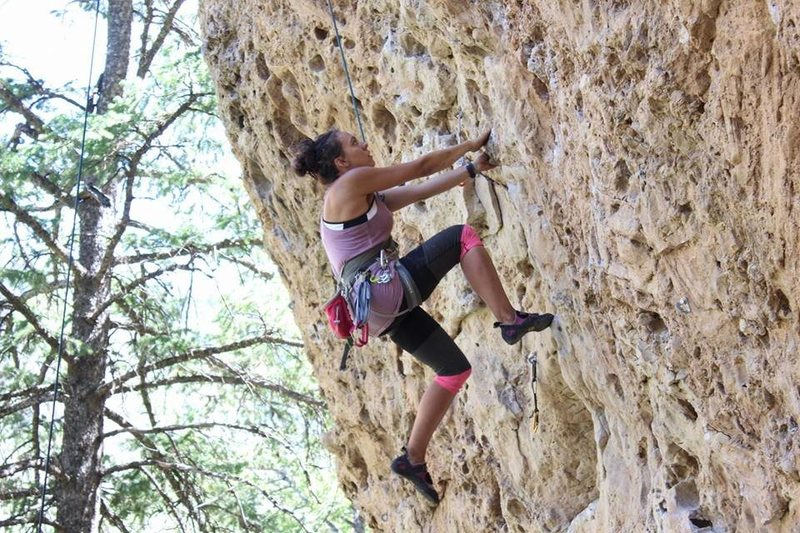 Rock Climbing Photo: TRing godfather #1 at the Godfather boulder in ten...