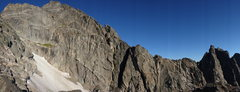 Rock Climbing Photo: Northeast Arete from the pass to the south.  The r...