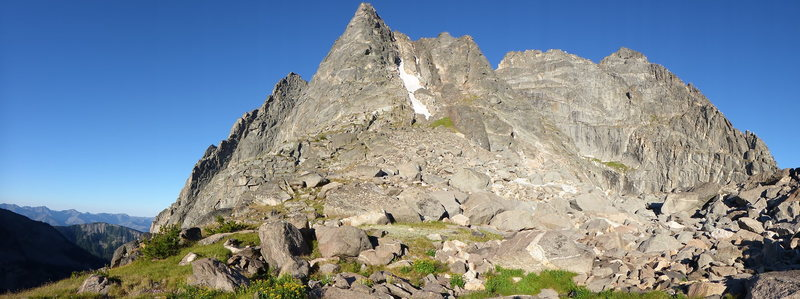 Rock Climbing Photo: Moe is the pointy spire in the middle, Cowen north...
