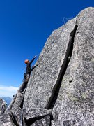 Rock Climbing Photo: The standard way to surmount the summit is to clim...