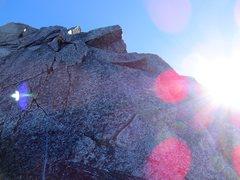 Rock Climbing Photo: Aesthetic 5.8 cracks on the upper SW Ridge of Nort...