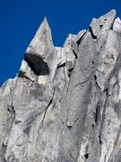 Rock Climbing Photo: A zoomed-in view of Pitch 5 (10b) of Dairyland (5p...