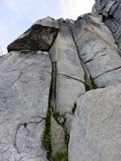 Rock Climbing Photo: Pitch 1 (5.9) of Dairyland (5p, 5.10d) on South Ne...