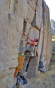 Rock Climbing Photo: Luke climbing Affordable Care at Rush