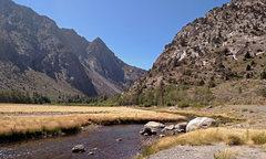 Rock Climbing Photo: south up Rush Creek at wading spot . . (crag not i...
