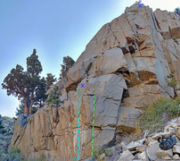 Rock Climbing Photo: Papillons sector 1 of Rush area overview of routes...