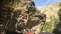 """Rock Climbing Photo: Fun movement on """"The Kind""""."""